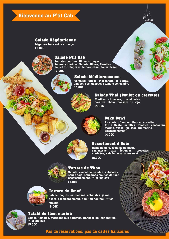 Restaurant Brasserie Le P'tit Caboulot » Carte 2021